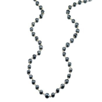 Mystic Black Spinel Diana Coin Necklace