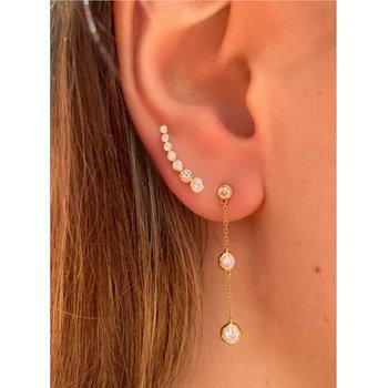 Diamond Dangle Bezel Earrings