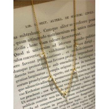 Diamond Fringe Station Necklace