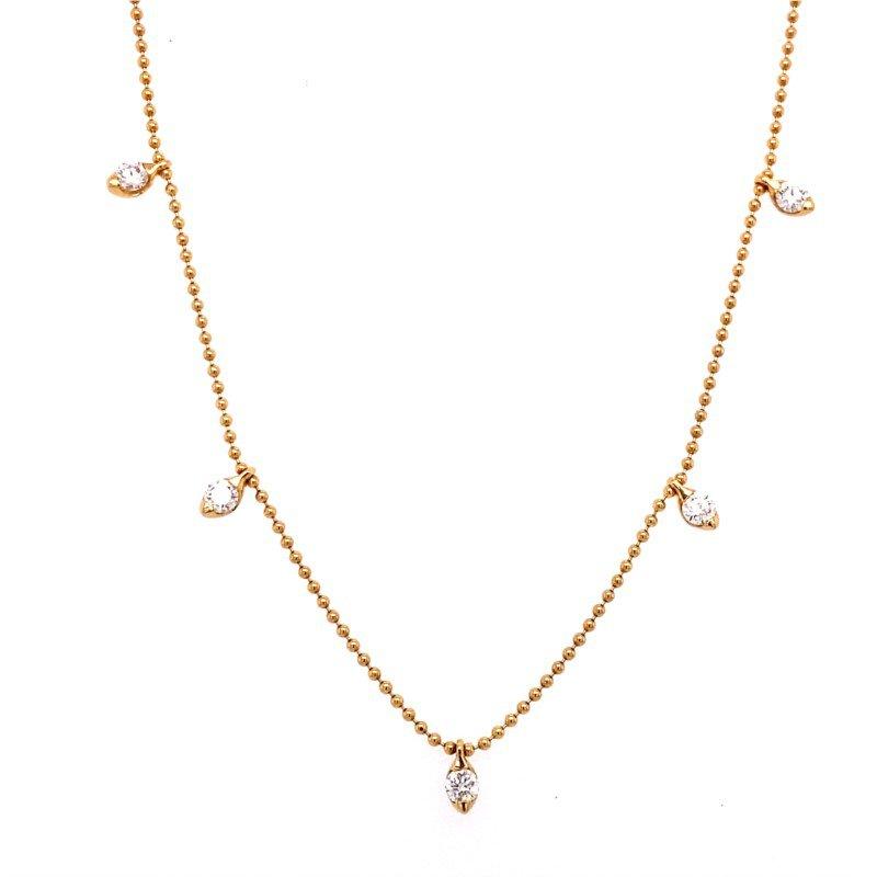 Murphy Pitard Signature Collection Diamond Fringe Station Necklace