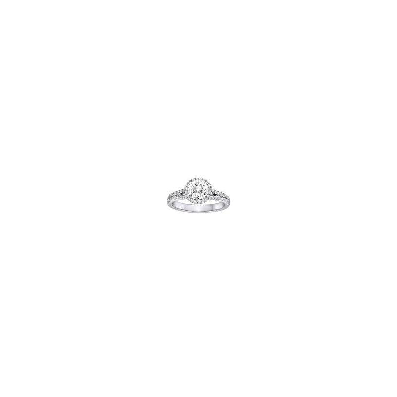Diadori (Cheri Dori) Diamond Halo Split Band Engagement Ring