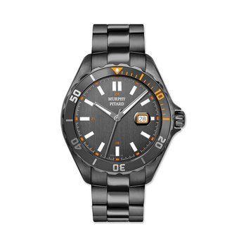 Gray Murphy Pitard 46 Millimeter Sport Watch With Orange Accents