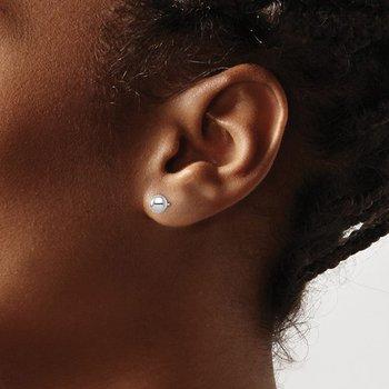 Polish 6 Millimeter Ball Earrings