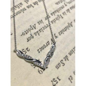 "Diamond & Polish ""V"" Twist Necklace"