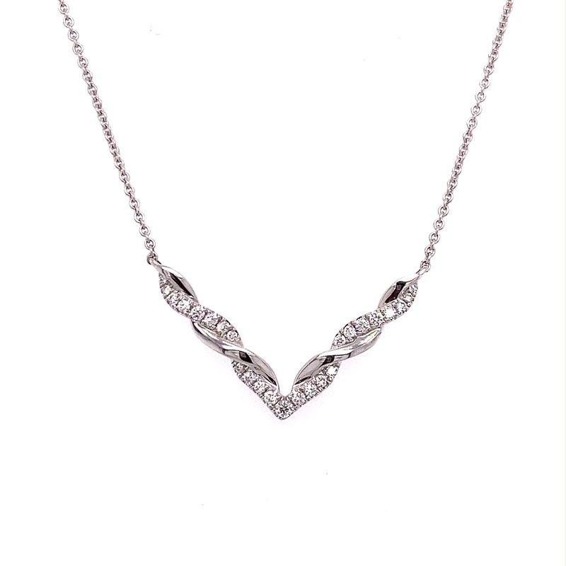 "Murphy Pitard Signature Collection Diamond & Polish ""V"" Twist Necklace"