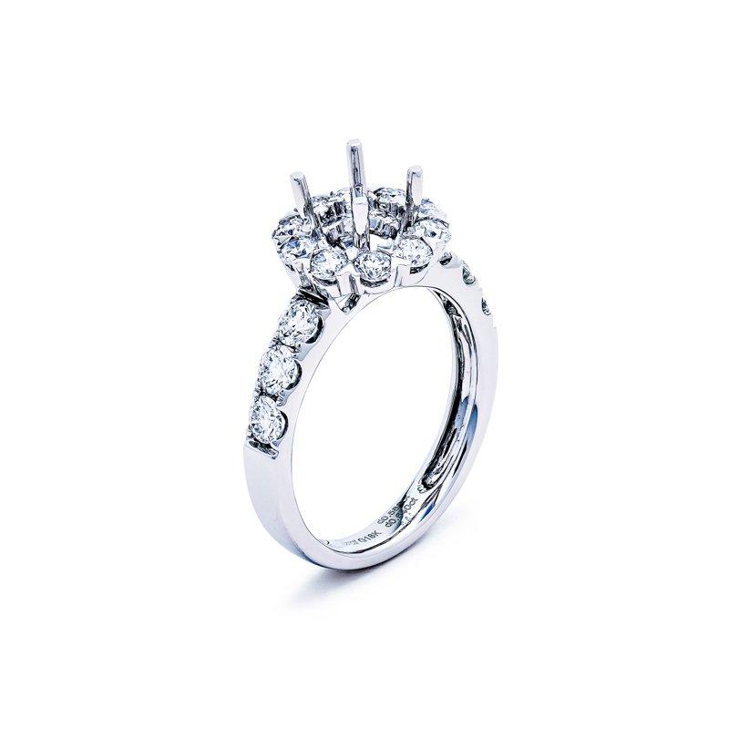 Murphy Pitard Signature Collection Round Diamond Halo Engagement Ring