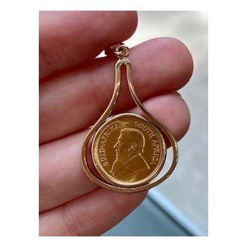 South African Gold Coin Pendant