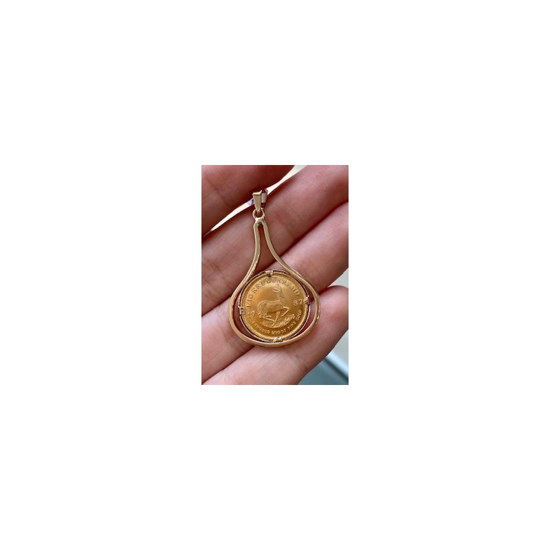 Murphy Pitard Estate Collection South African Gold Coin Pendant