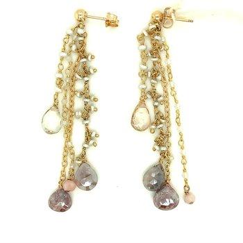 Linear Cluster Dangle Earrings