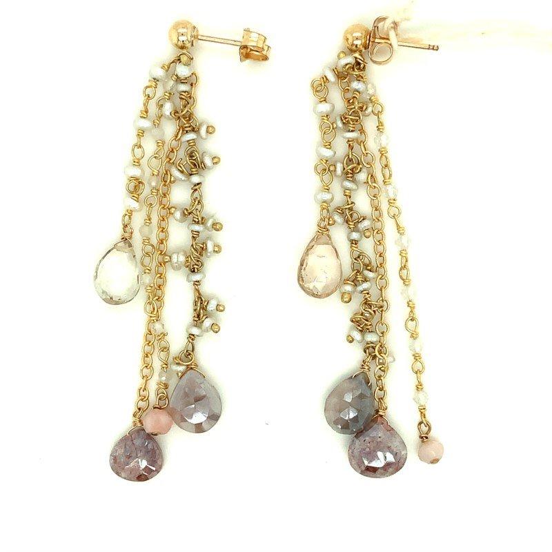 ela rae new york city Linear Cluster Dangle Earrings