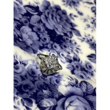 Vintage Inspired Diamond Milgrain Fashion Ring