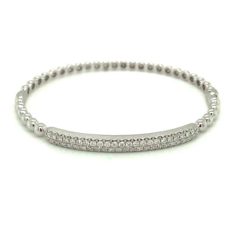Murphy Pitard Signature Collection Pavé Diamond 4/5 Carats Bar Bangle Bracelet