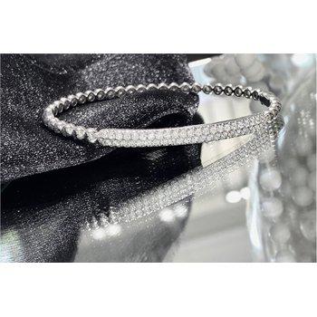 Pavé Diamond 4/5 Carats Bar Bangle Bracelet
