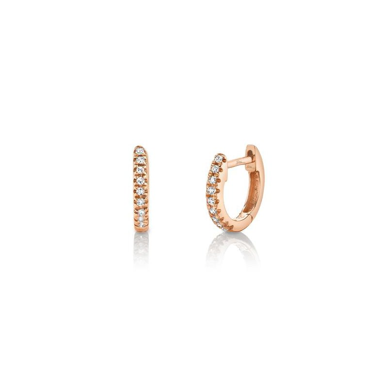 Shy Creation Kate Collection Diamond .04 Carats Huggie Earrings