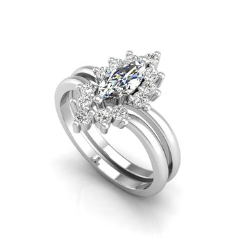 Tiara Collection Marquise Engagement Ring