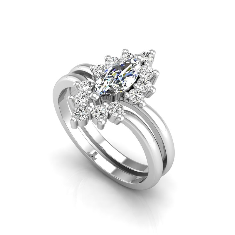Murphy Pitard Signature Collection Tiara Collection Marquise Engagement Ring