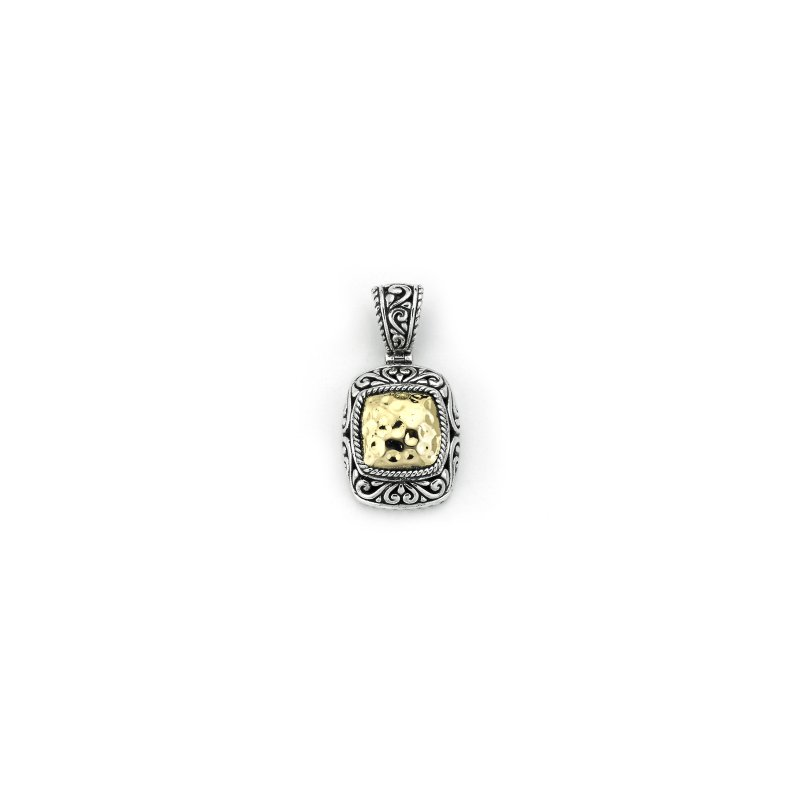Samuel B. Silver Hammered Gold Pendant