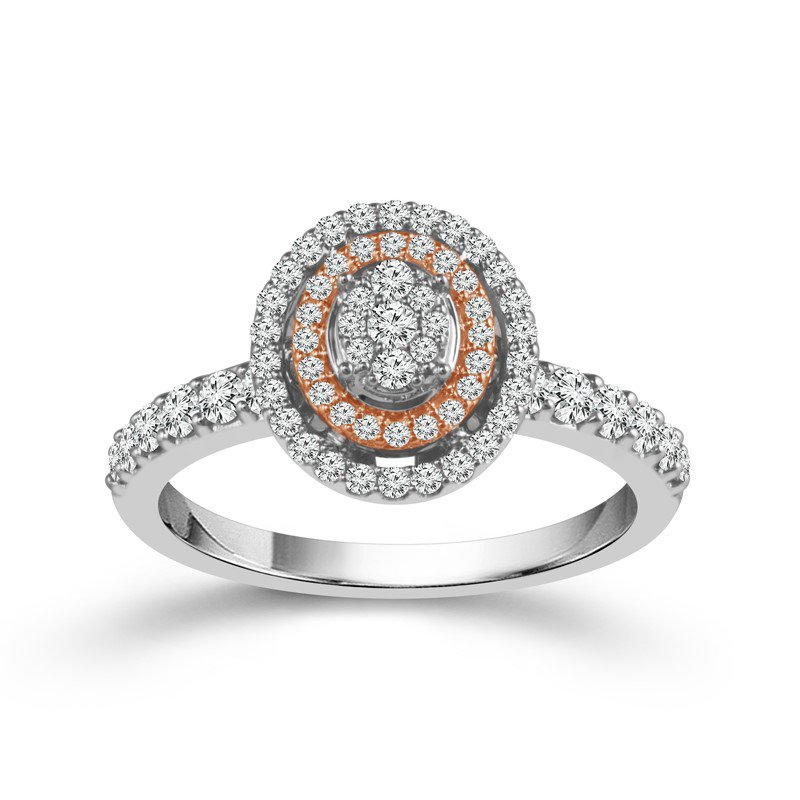 Murphy Pitard Signature Collection Double Halo Oval Engagement Ring