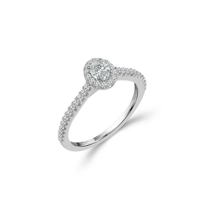 Murphy Pitard Signature Collection Oval Halo Diamond Engagement Ring