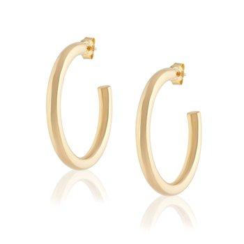 Large Tube Hoop Earrings