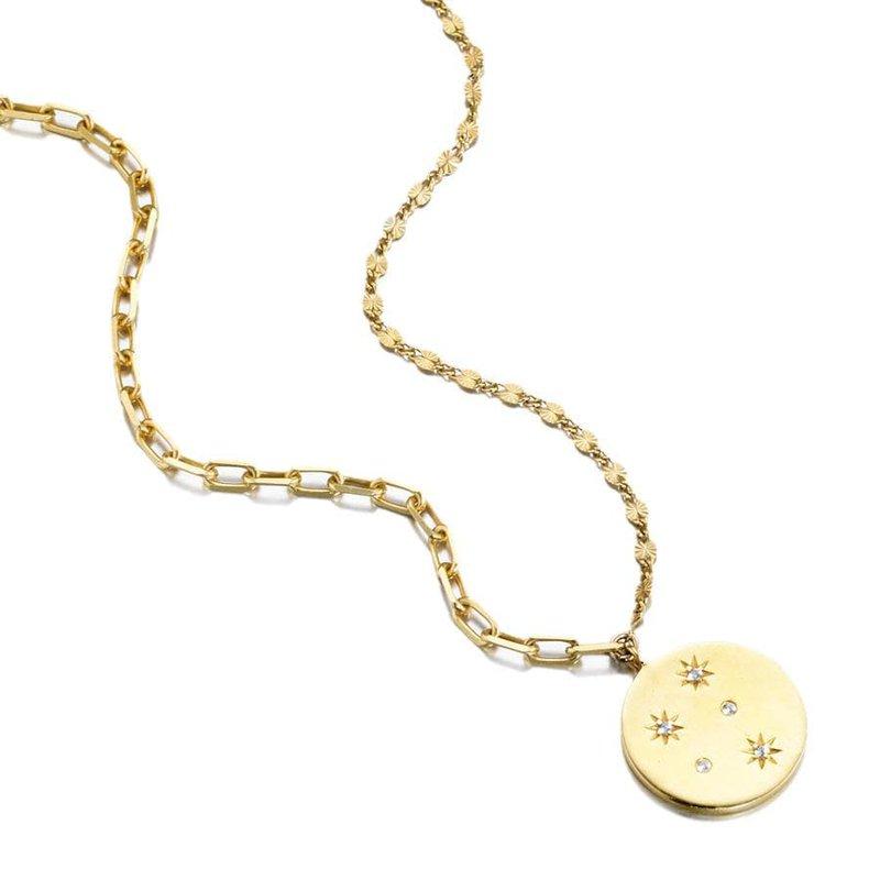 ela rae new york city Mismatched Chain Starburst Necklace