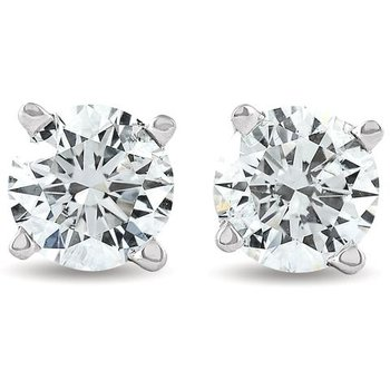 Traditional Set Diamond 1/3 Carats Stud Earrings