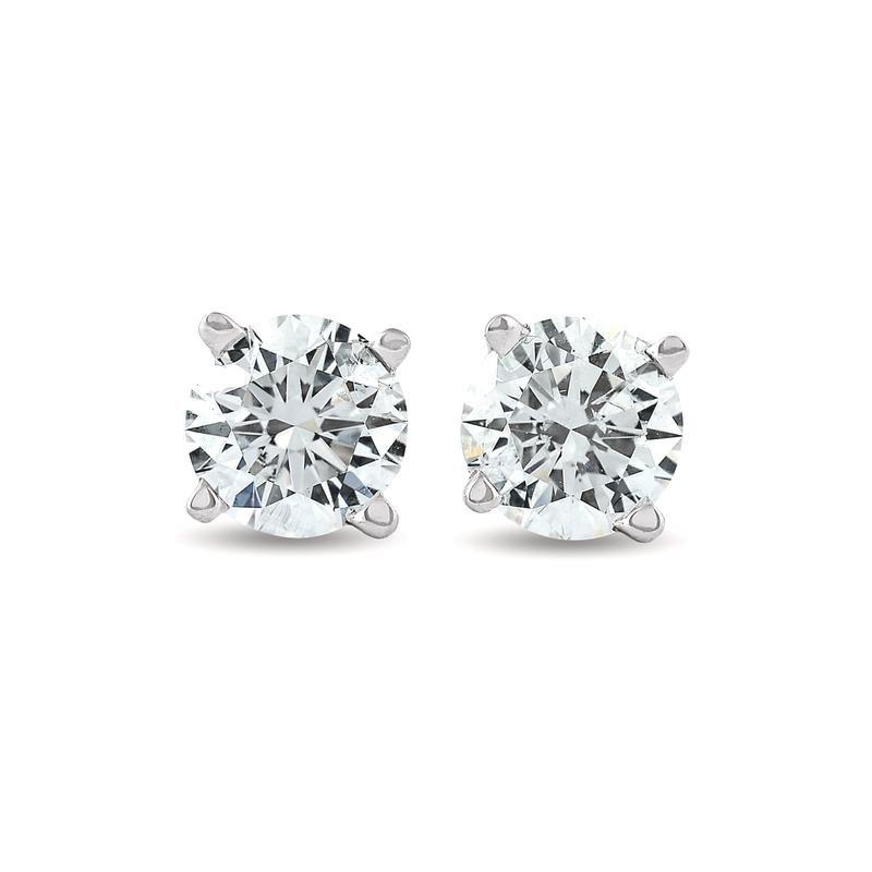 Murphy Pitard Signature Collection Traditional Set Diamond 1/3 Carats Stud Earrings