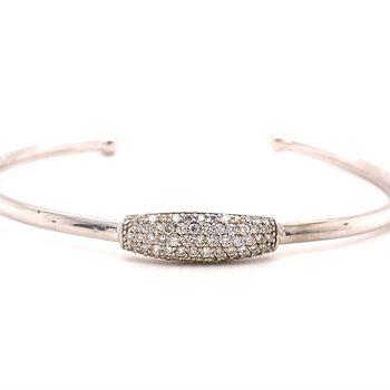 Diamond Pavé Cuff Bangle Bracelet