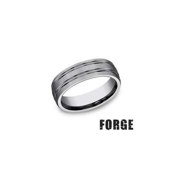 Forge Tungsten Comfort-Fit Design Wedding Band