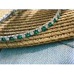 Murphy Pitard Signature Collection Diamond & Emerald Traditional 4 1/2 Carat Tennis Bracelet