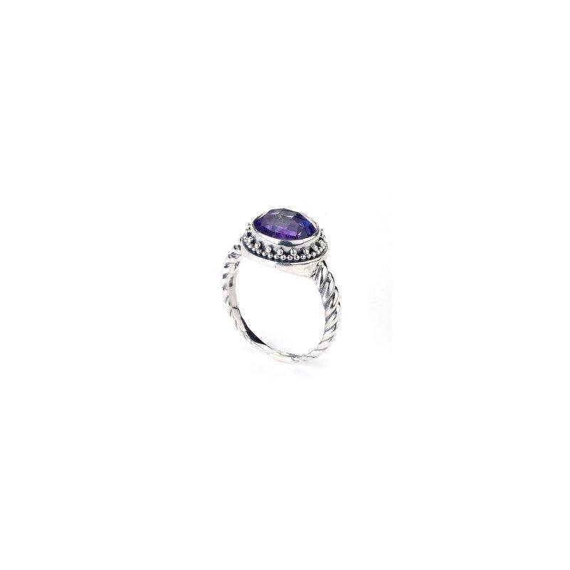 Samuel B. Silver Amethyst Ring