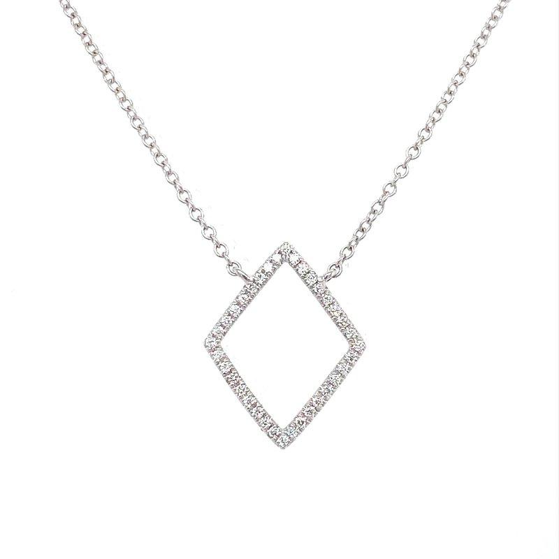 Murphy Pitard Signature Collection Diamond Geometric Open Pendant Neckalce