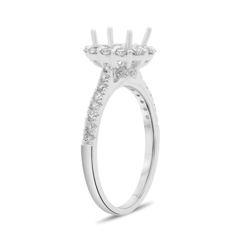 Murphy Pitard Signature Collection Oval Diamond Halo Engagement Ring