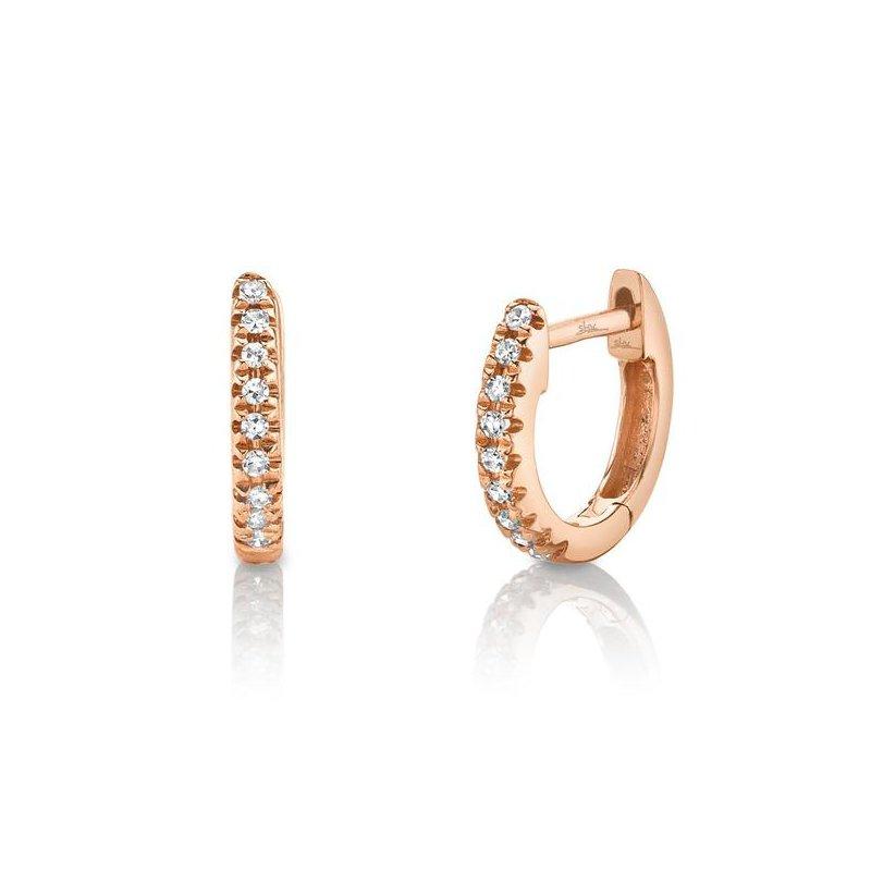 Shy Creation Diamond Huggie Earrings