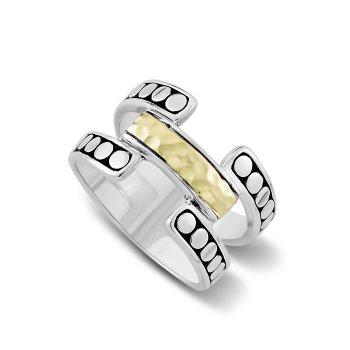 Open Design Hammered Ring