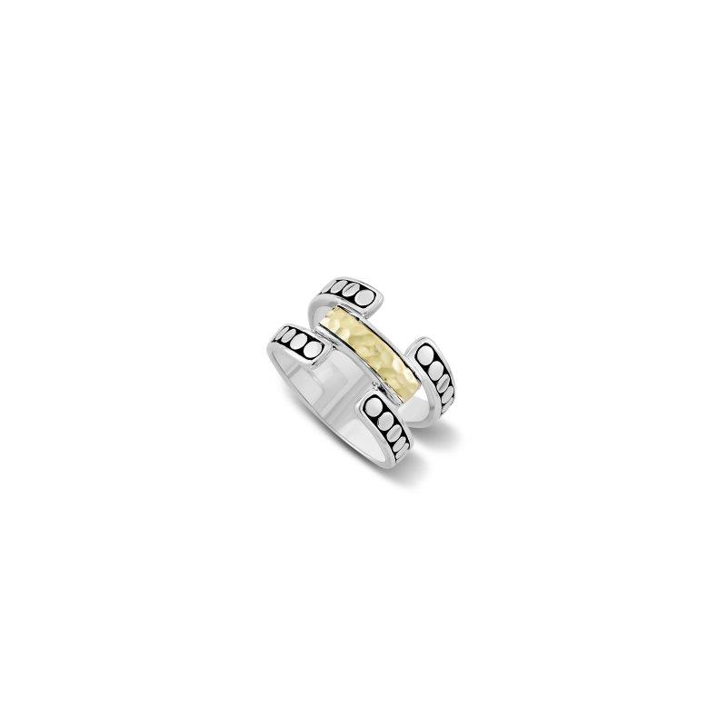 Samuel B. Open Design Hammered Ring