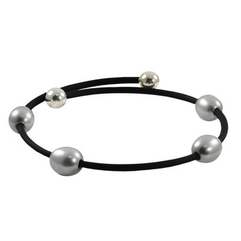 Freshwater Grey Pearl Bangle Bracelet