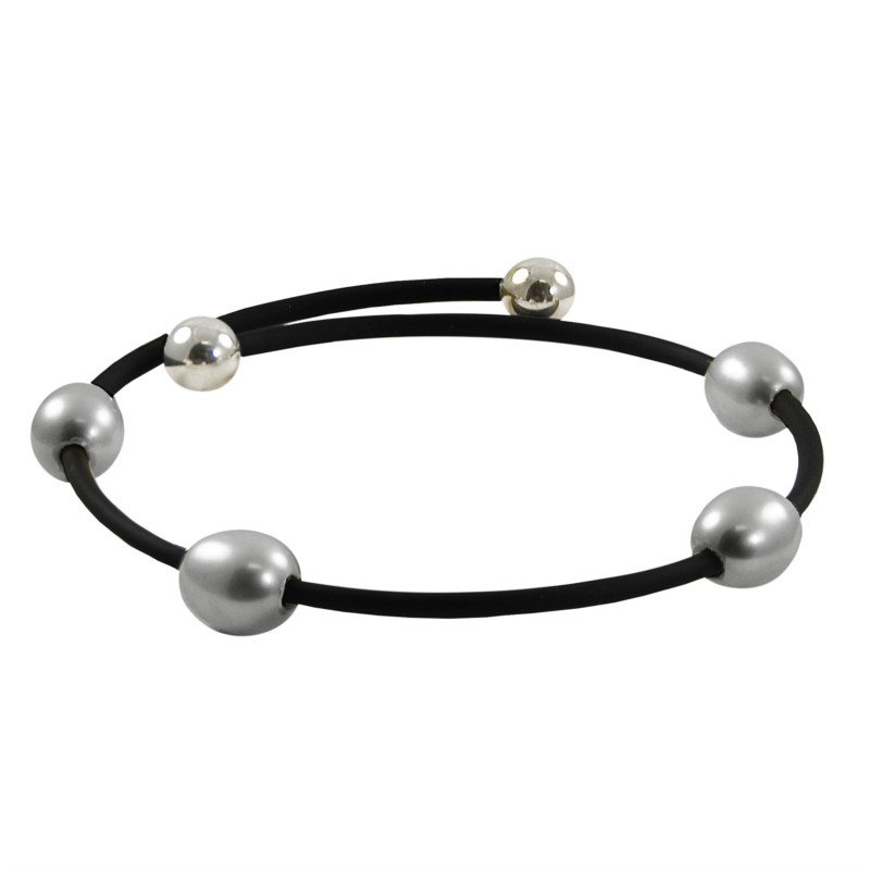 Murphy Pitard Signature Collection Freshwater Grey Pearl Bangle Bracelet