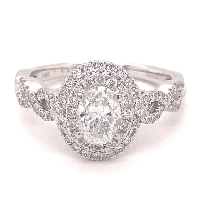 Murphy Pitard Signature Collection Oval Diamond Double Halo Engagement Ring