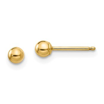 Ball Earrings - 3 Millimeter