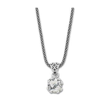 White Topaz Drop Pendant Necklace