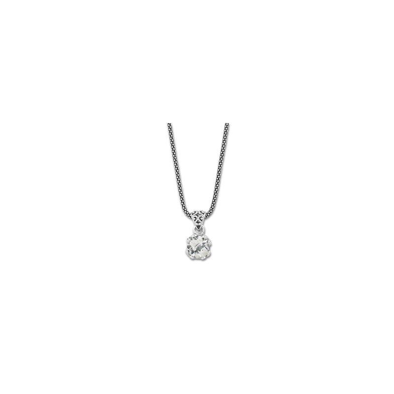 Samuel B. White Topaz Drop Pendant Necklace