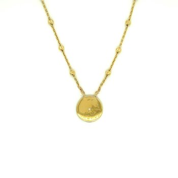 Satellite Ball Chain Disc Necklace