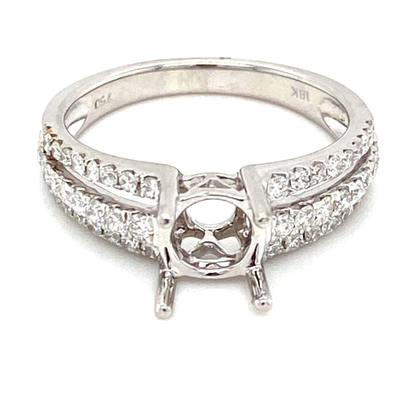 Murphy Pitard Signature Collection Diamond Triple Row Split Band Engagement Ring