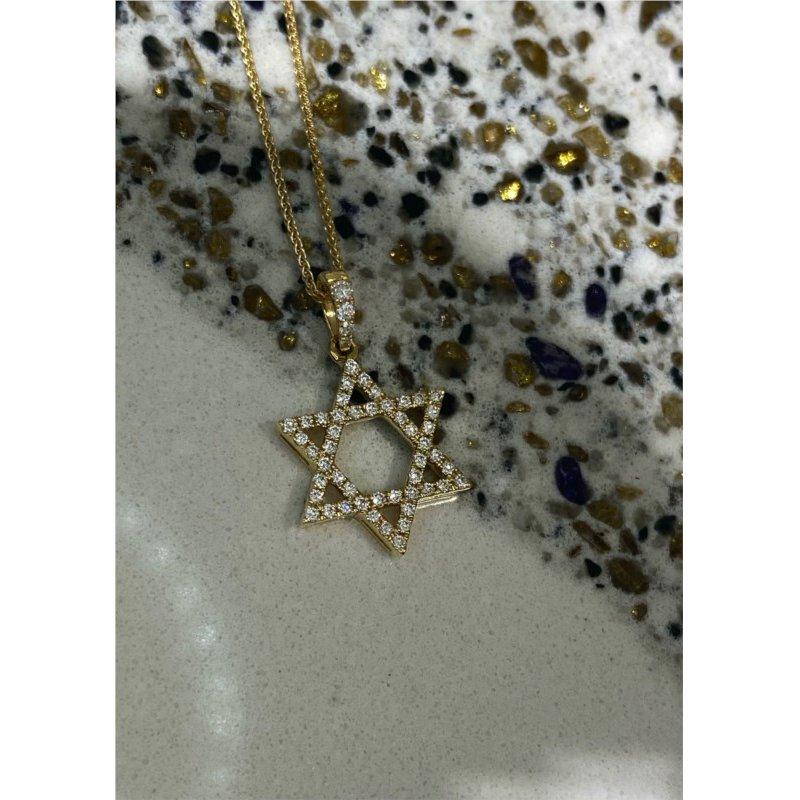Murphy Pitard Signature Collection Diamond 1/4 Carats Star of David Pendant