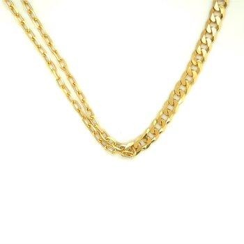 Mismatch Half and Half Collar Necklace