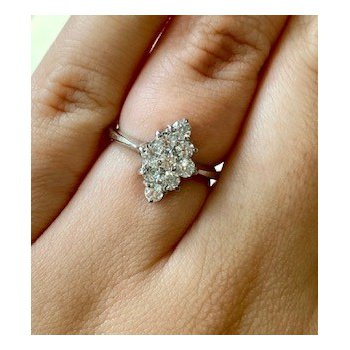 Vintage Inspired Gold Cubic Zirconia Ring