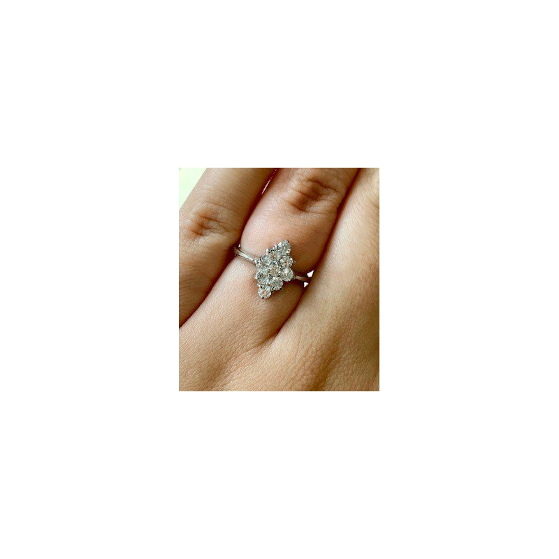 Murphy Pitard Estate Collection Vintage Inspired Gold Cubic Zirconia Ring