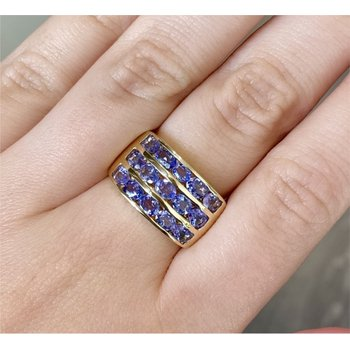 Tanzanite 3 Row Channel Band