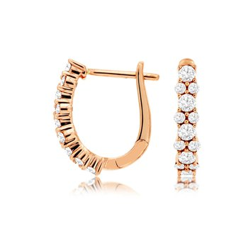 Diamond Small Hoop Earrings